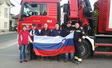 Katastrophenhilfseinsatz in Slowenien