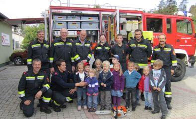 Die FF besucht den Kindergarten Gugging-Ort