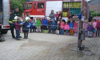 Die FF besucht den Kindergarten IST-Austria